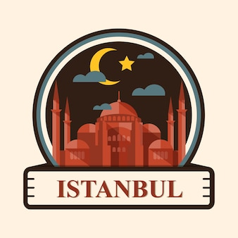 Istanbul city badge, turkey