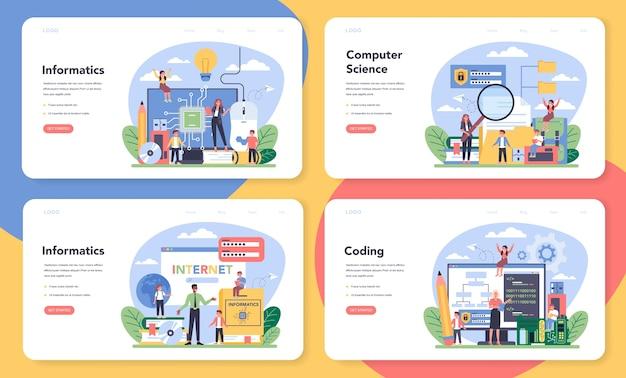 Веб-баннер или целевая страница для ит-образования