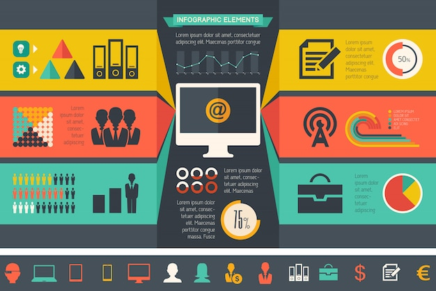 It industry infographic elements