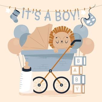 男の子の誕生日イラストです