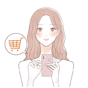 It is a woman who is shopping online with a smartphone.