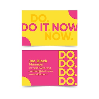 Do it now business card template