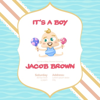 It's a boy baby shower background