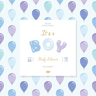 It's a boy. baby shower template.