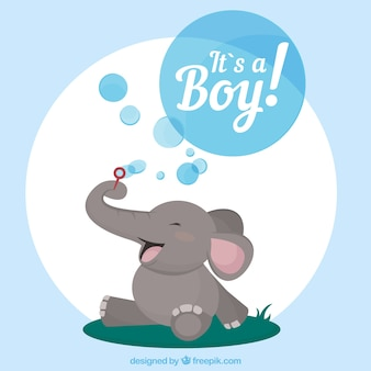 It's a boy card in hand drawn style