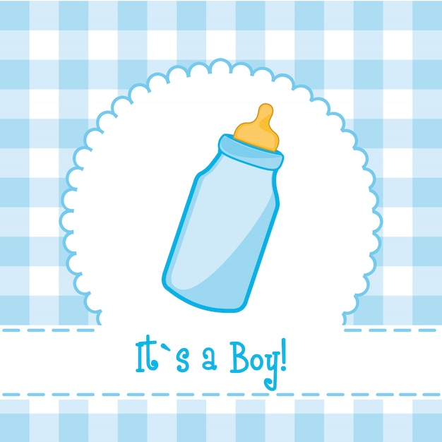 It´s a boy card with bottle baby baby shower