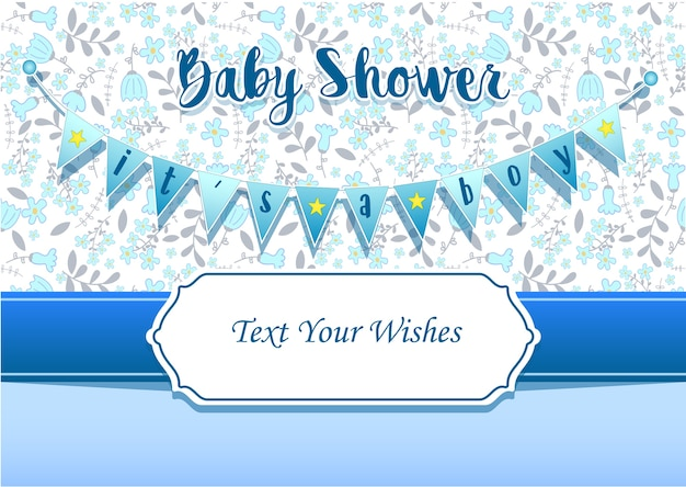 It's a boy invitation card design template
