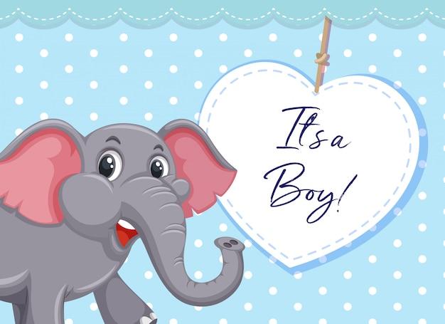 It's a boy template