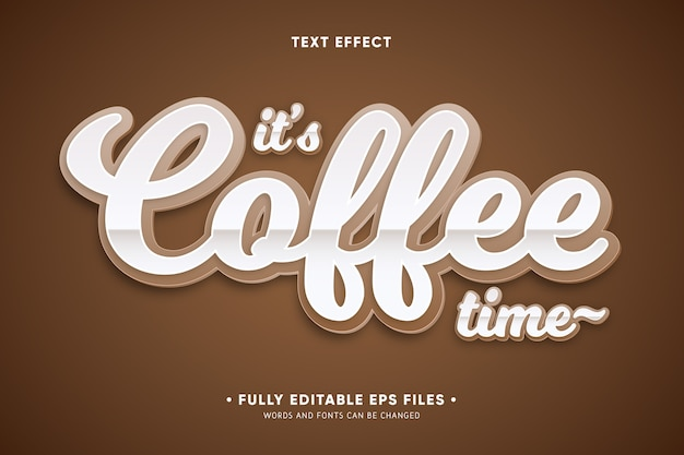 It's coffee time text effect