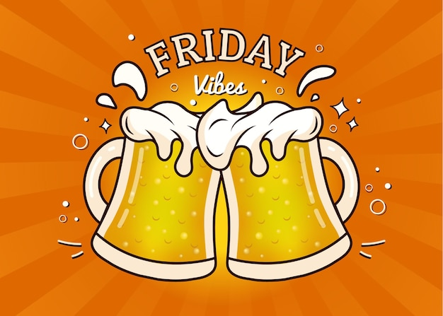 Это пятница, аплодирующая кружками, полными пива