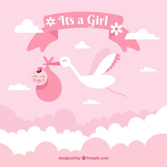 It's a girl baby shower background