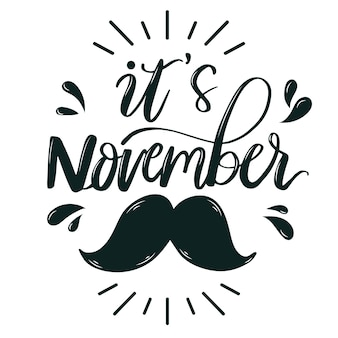 It's movember lettering with moustache