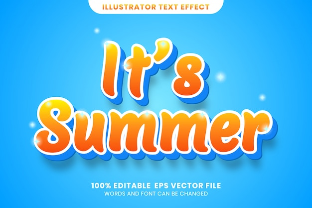 It's summer text effect
