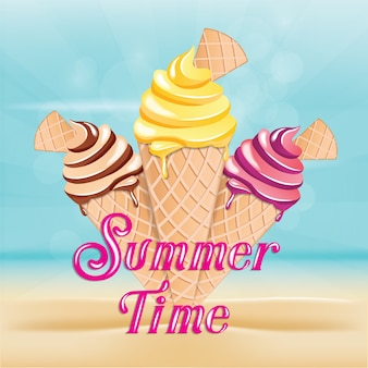 It's summer time and vacation holiday