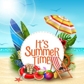 It's summer time banner design