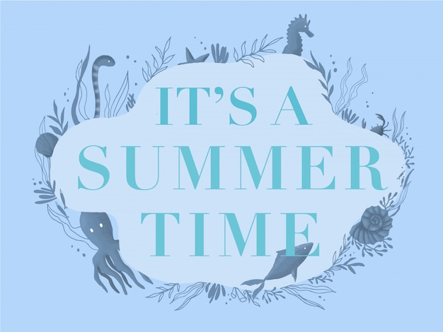 It's a summer time banner