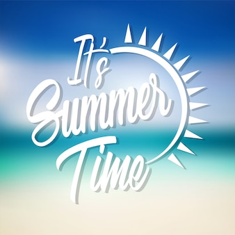 It's summer time lettering vector design