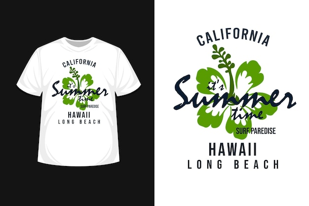 It's summer time t shirt  design with flower