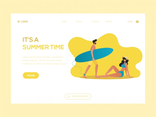 It's a summer time web illustration