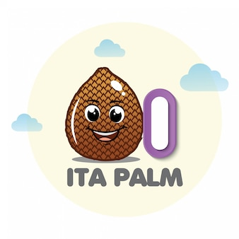 Ita palm mascot with letter i