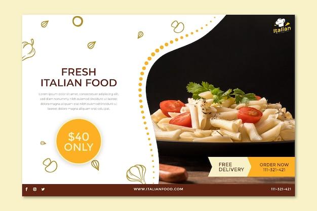 Italian food banner concept