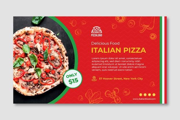 Шаблон баннера итальянской кухни