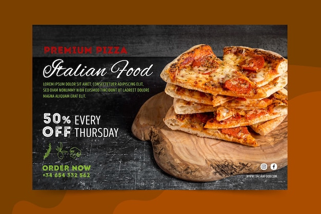 Banner di cibo italiano