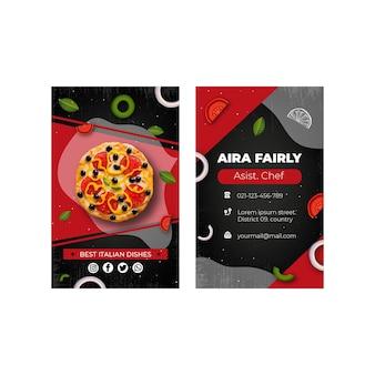 Italian food business card template
