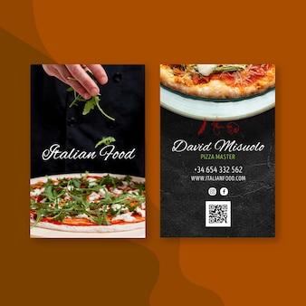 Italian food business card