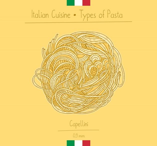 Italian food capellini pasta