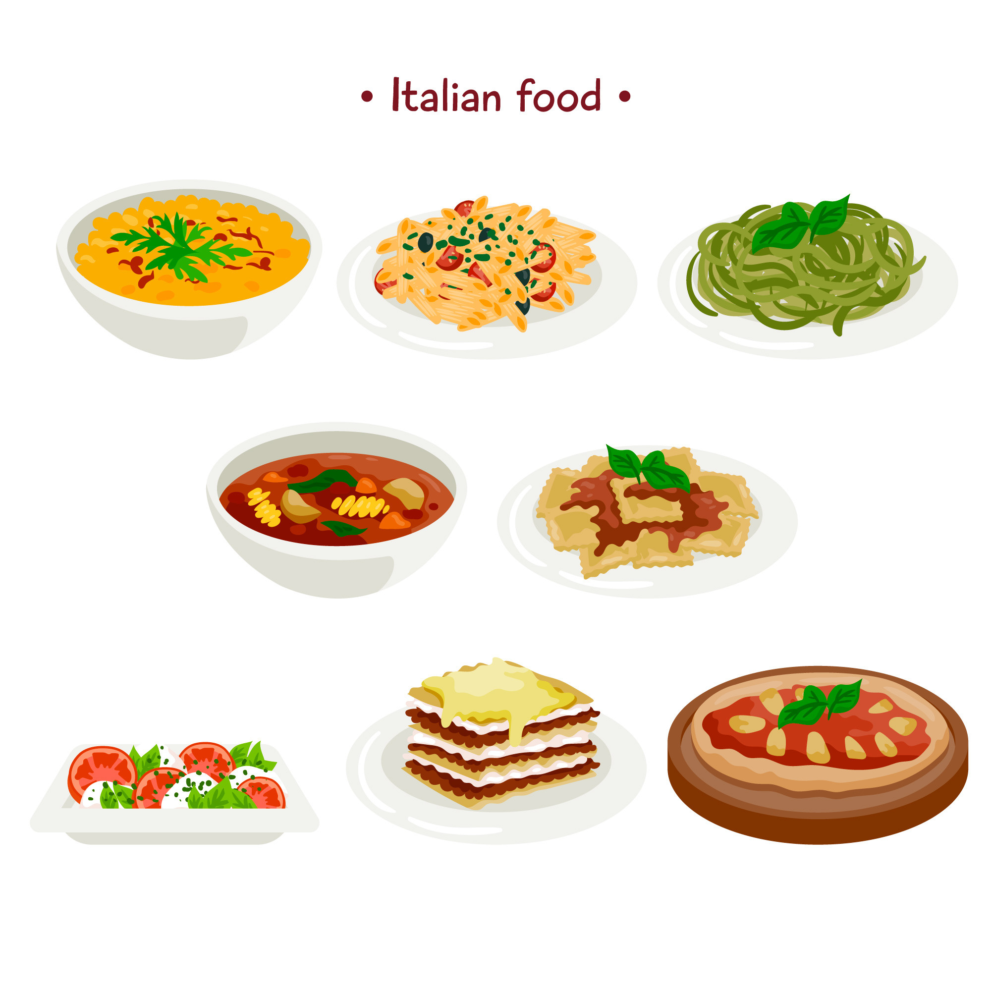 Italian food collection