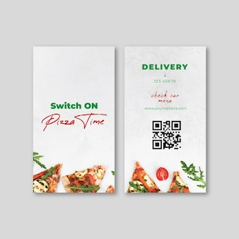 Italian food double-sided business card
