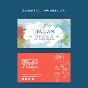 Italian food double-sided businesscard h