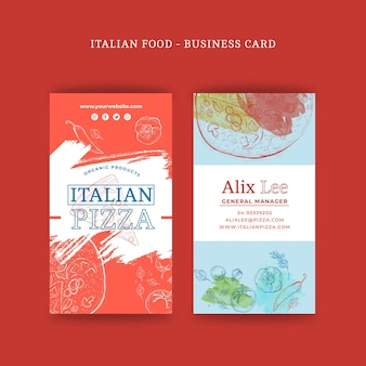 Italian food double-sided businesscard v