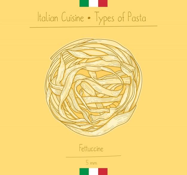 Italian food fettuccine pasta