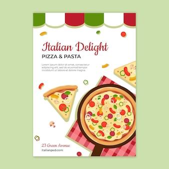 Italian food flyer template