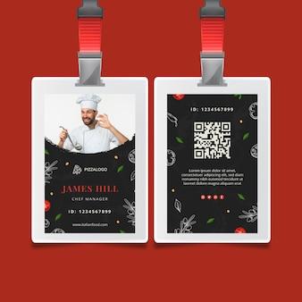 Italian food id card template