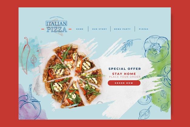 Italian food landing page