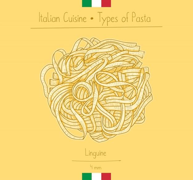 Italian food linguine pasta