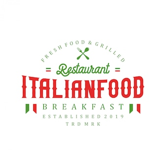 Italian food logo for restaurant
