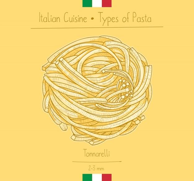 Italian food pasta spaghetti alla chitarra aka tonnarellli