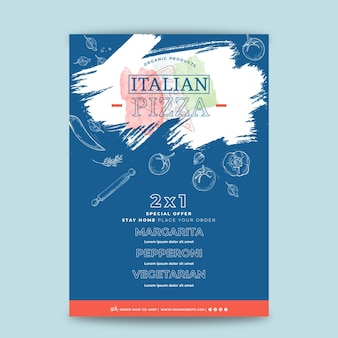 イタリア料理ポスターのコンセプト