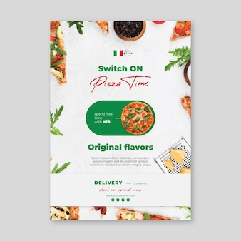 Italian food poster template