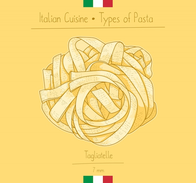 Italian food tagliatelle pasta