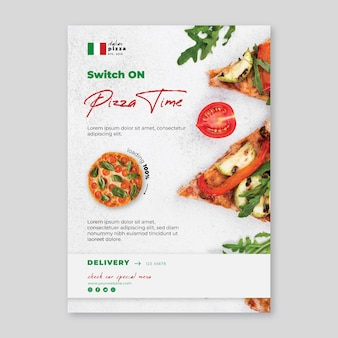 Italian food vertical flyer  template