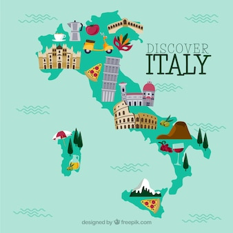 Italy Map Vectors, Photos and PSD files | Free Download