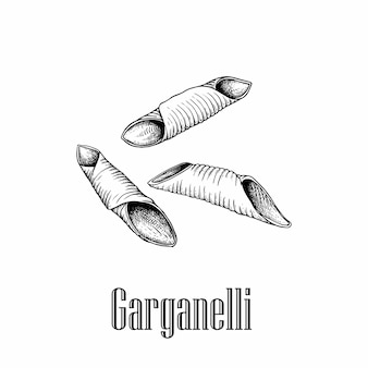 Итальянская паста гарганелли.