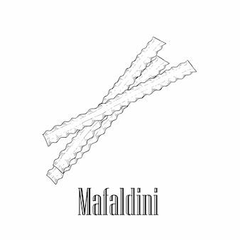 Итальянская паста мафальдини.
