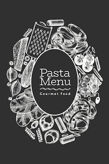 Italian pasta with additions design