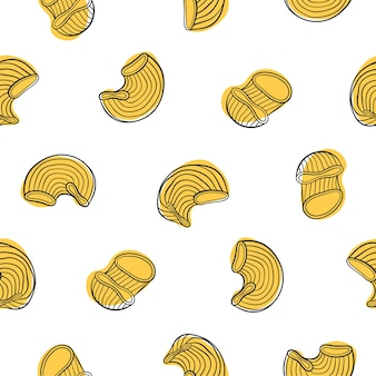Italian pipe rigate pasta seamless pattern